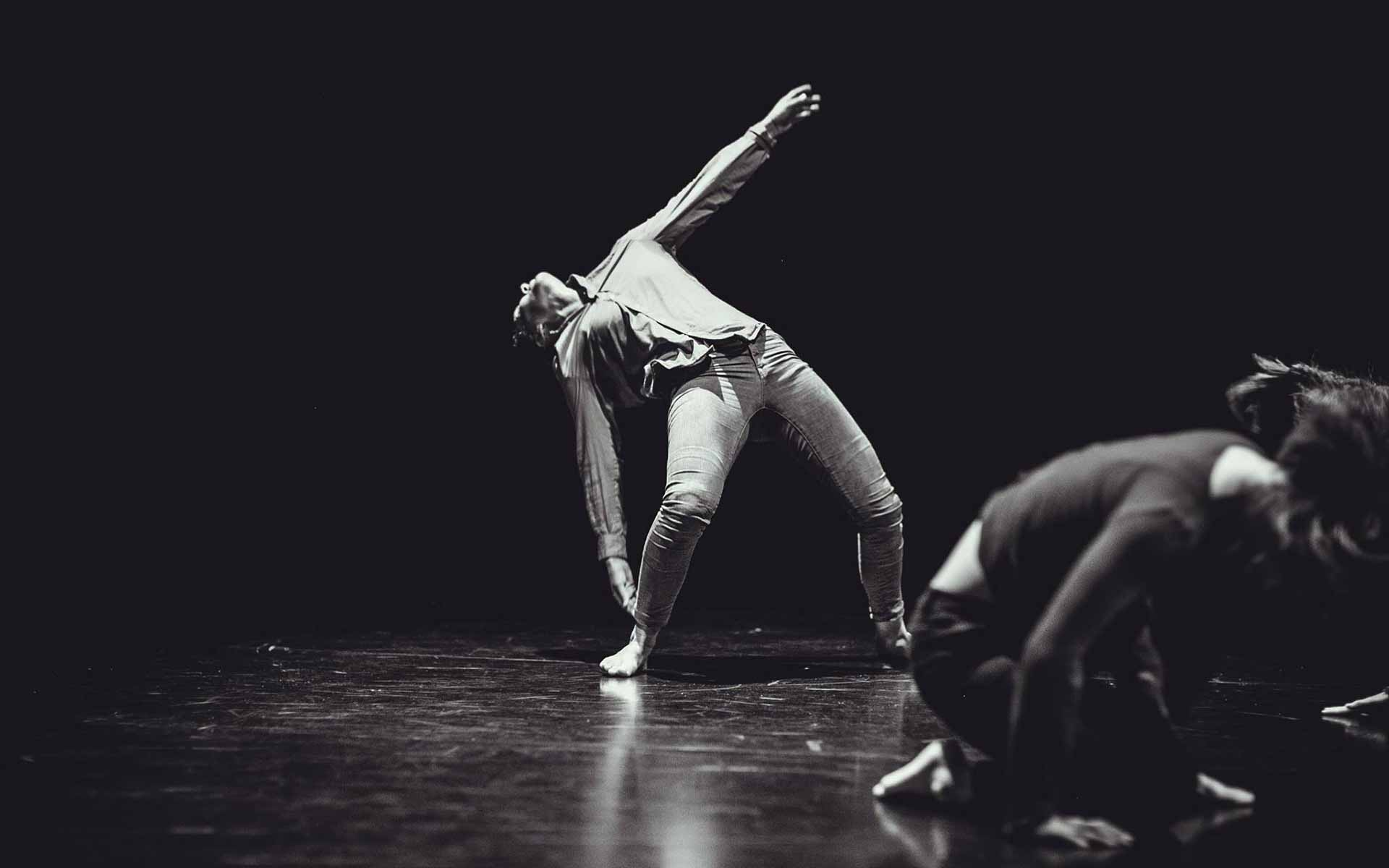 Dancer Anna Kempin expressing complex use of body while dancing contemporary dance