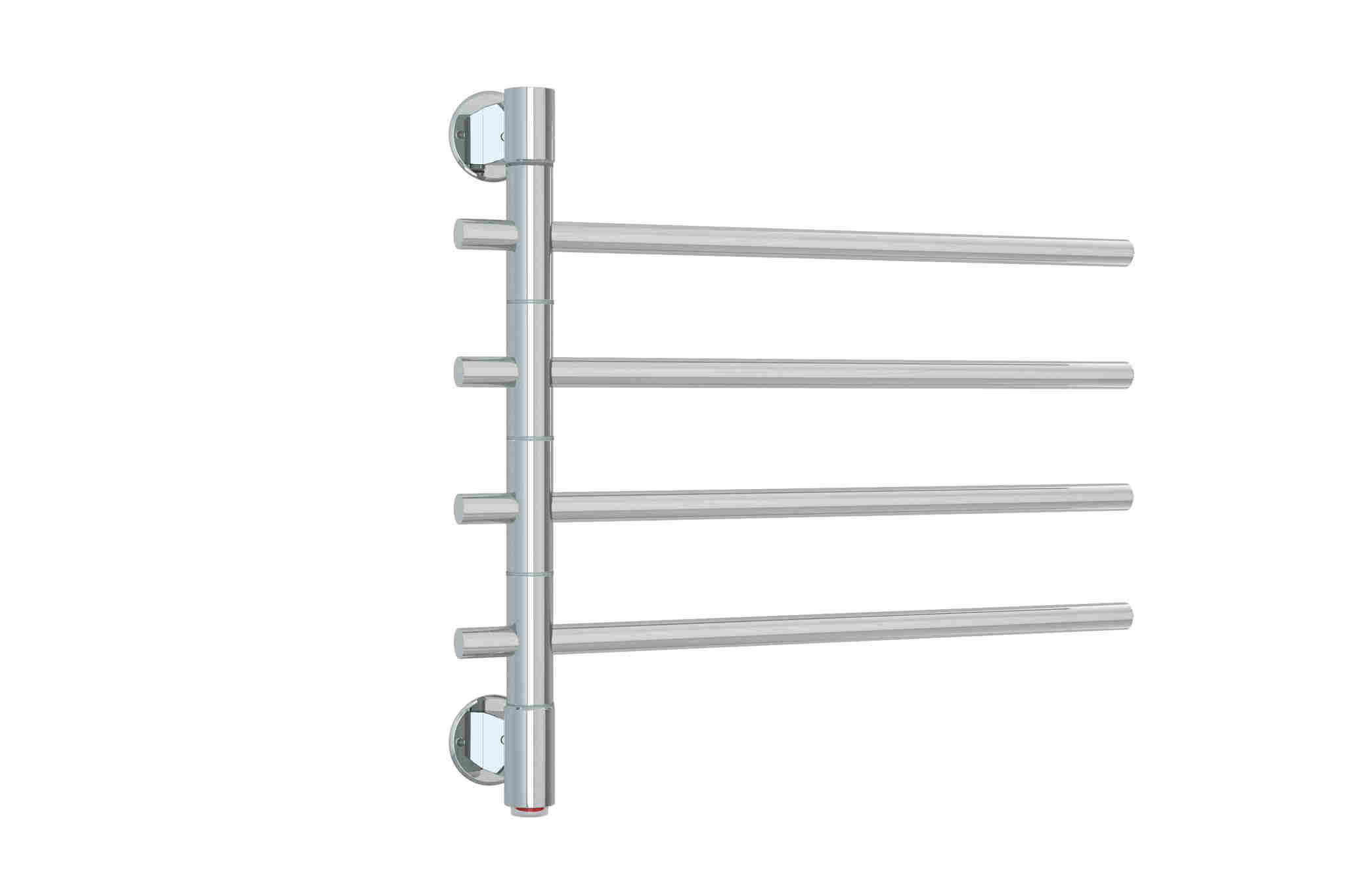 Swivel heated towel rail