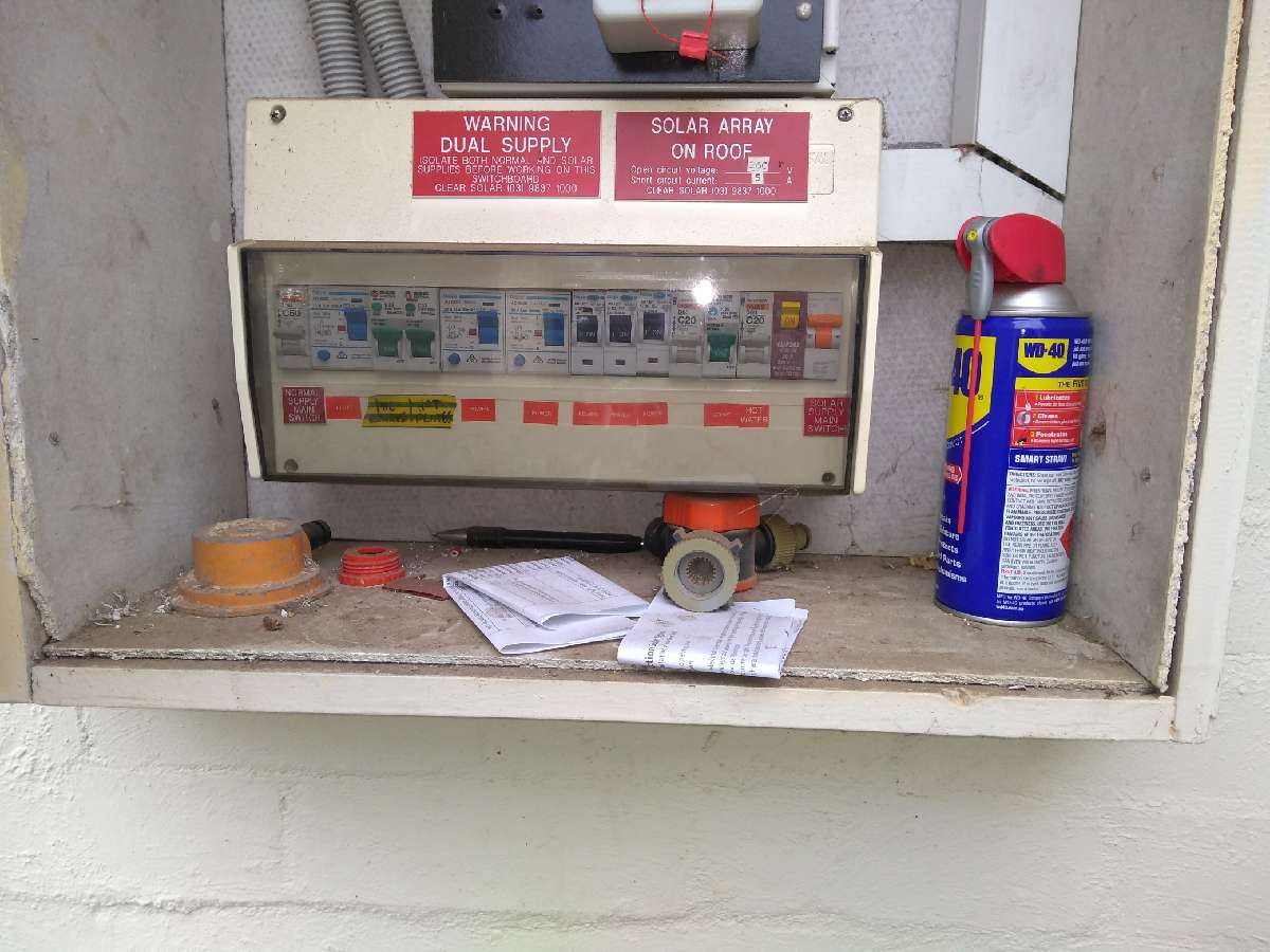 Asbestos in switchboard
