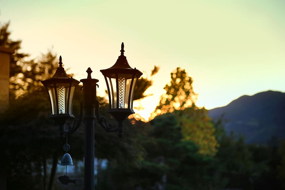 Narnia-type lamp in garden