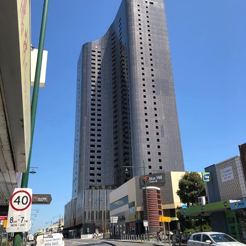 Skyscraper high rise apartment in Box Hill Central