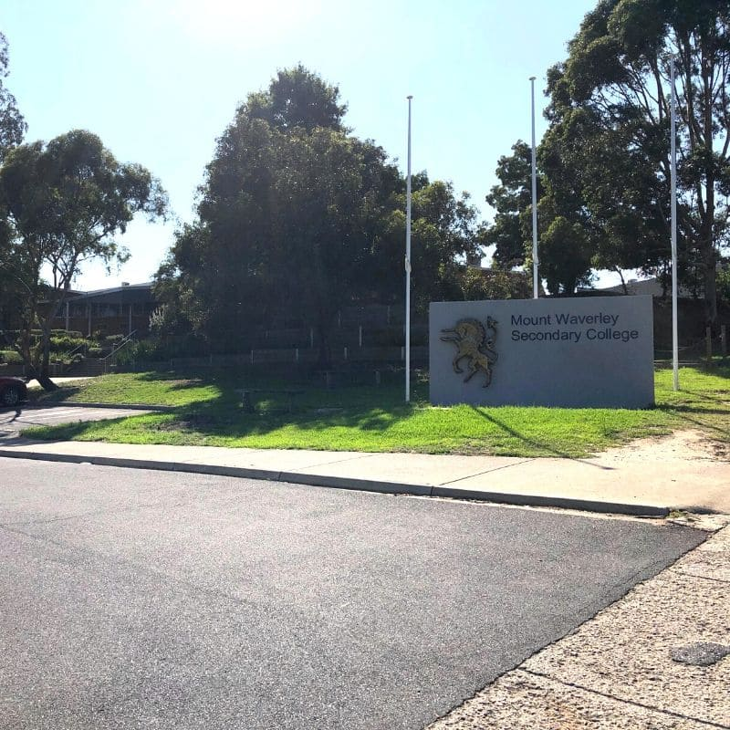 Mount Waverley Secondary College sign