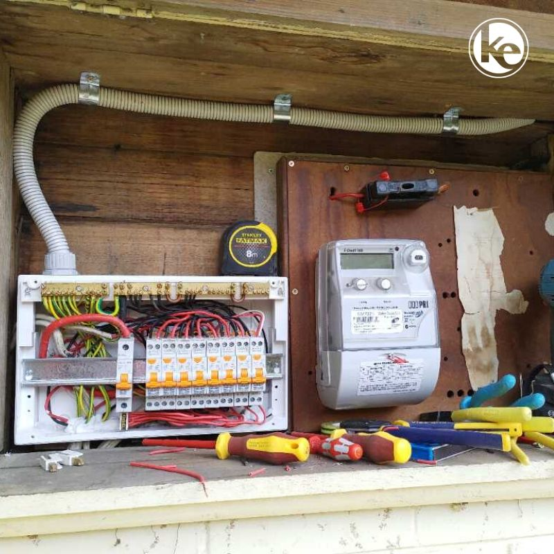 Switchboard upgrade by a qualified electrician