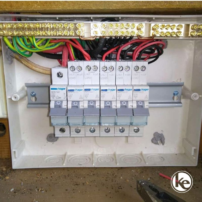 Switchboard with safety switches