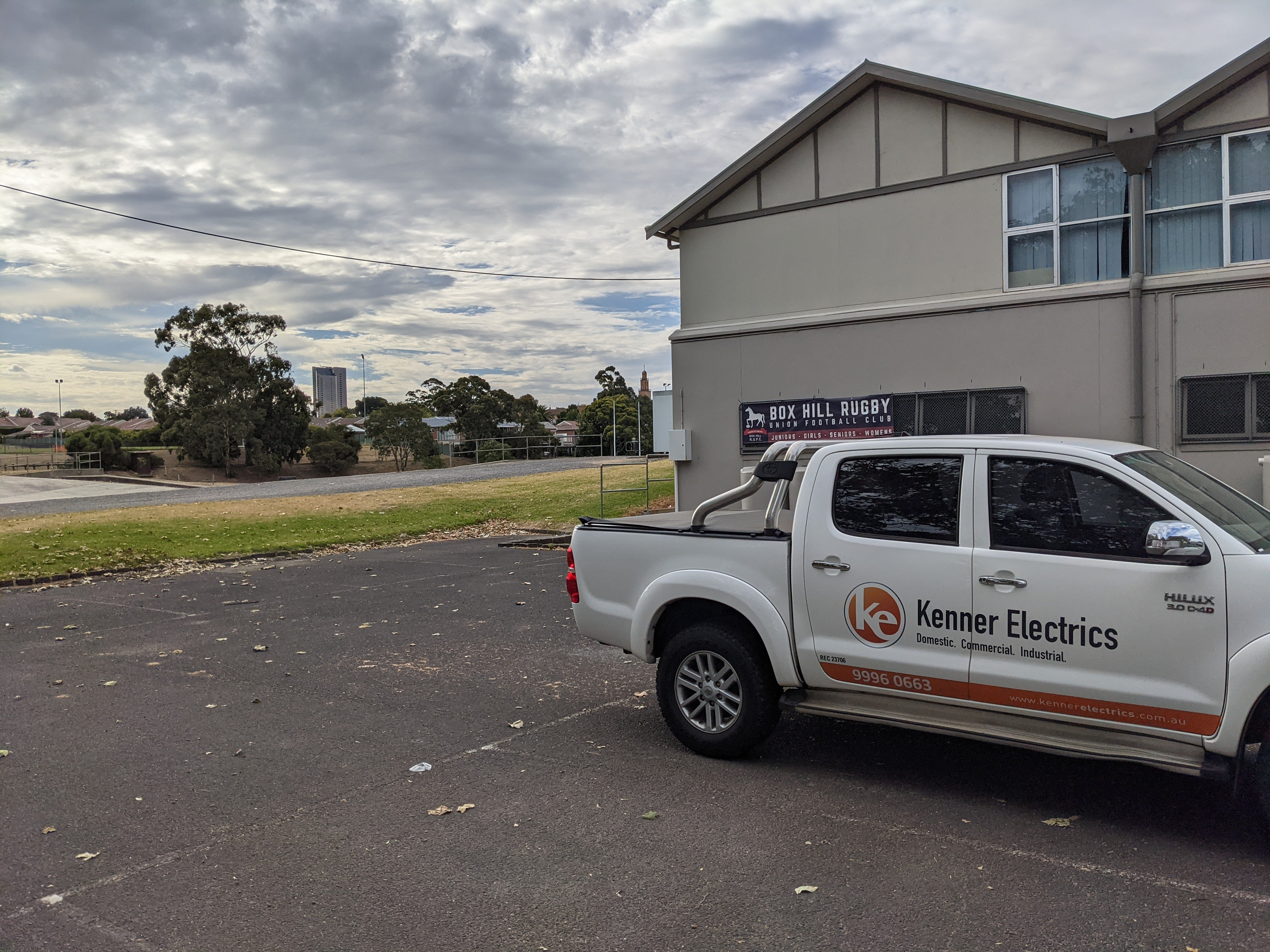 Electrician at the Box Hill South Rugby Field