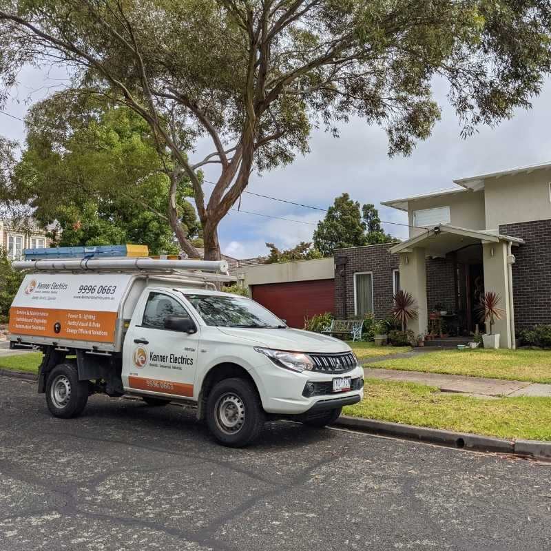 Box Hill North Electrician working at a house