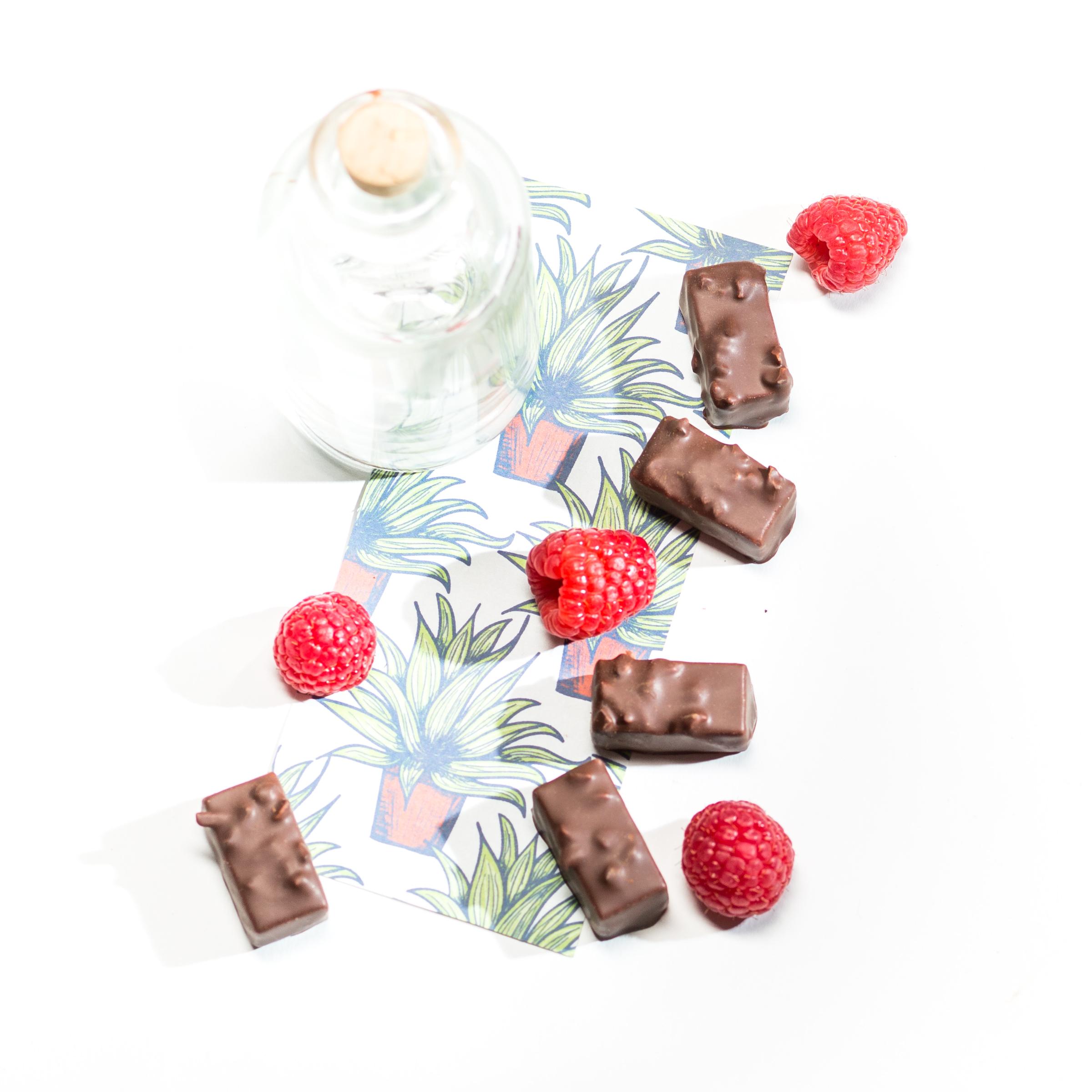 Himbeer Mezcal Schokolade