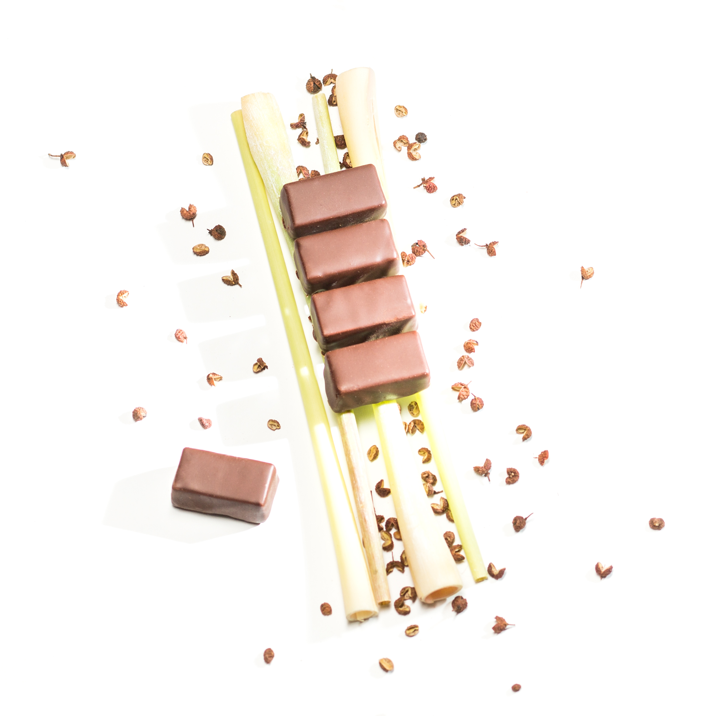 Zitronengras Szechuanpfeffer Schokolade