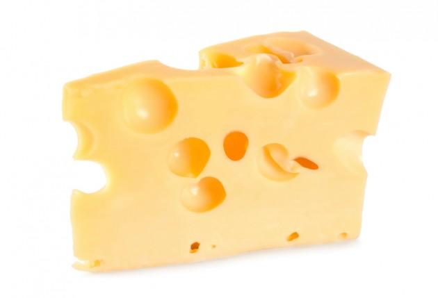 an actual piece of cheese