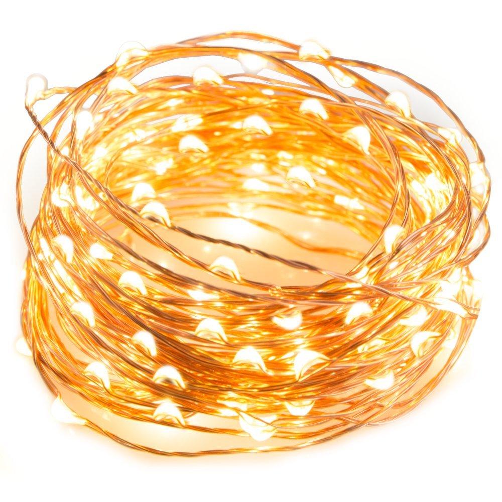 golden sparkle string lights