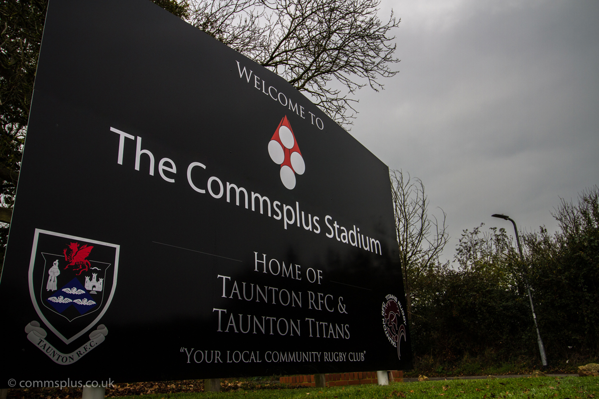 The Commsplus Stadium at Taunton Rugby Club