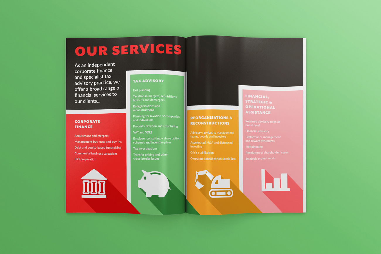 Brochure Design and Exhibition Graphics for Accountants and