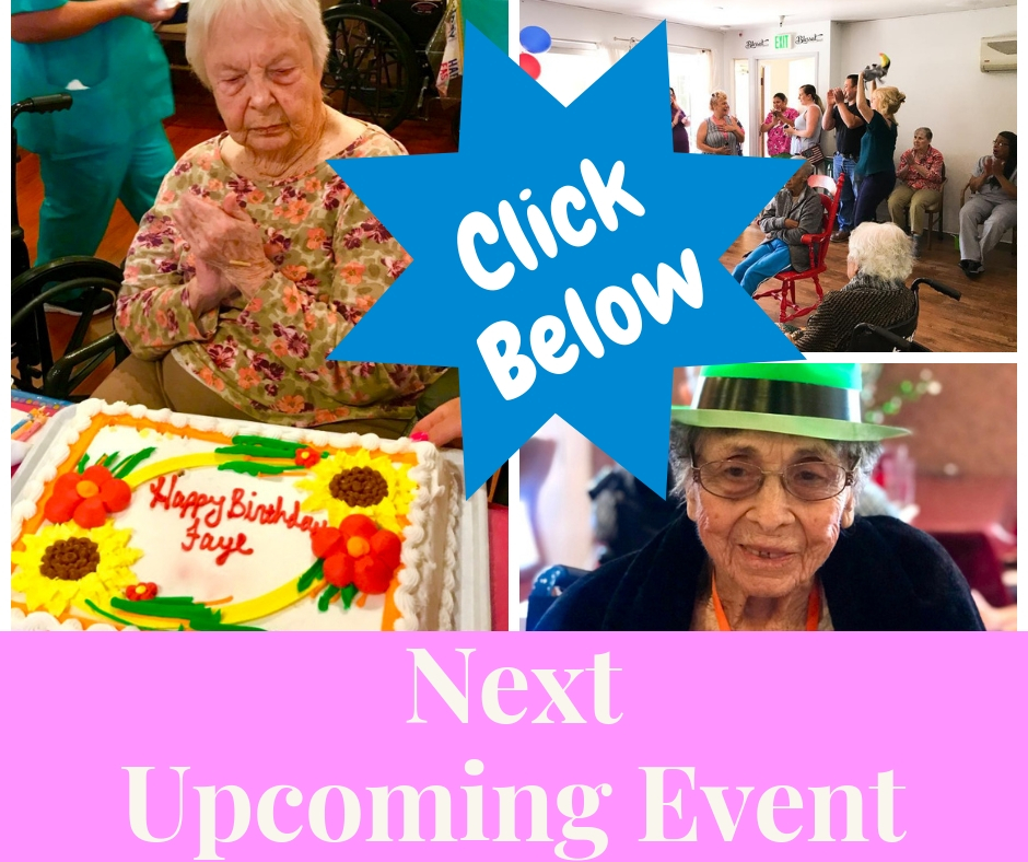 Photograph is a collage of Rosegate activities and links to next event