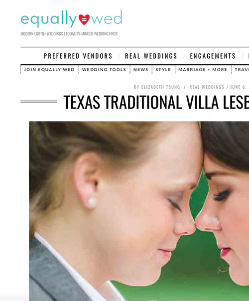 Texas Traditional Villa Lesbian Wedding