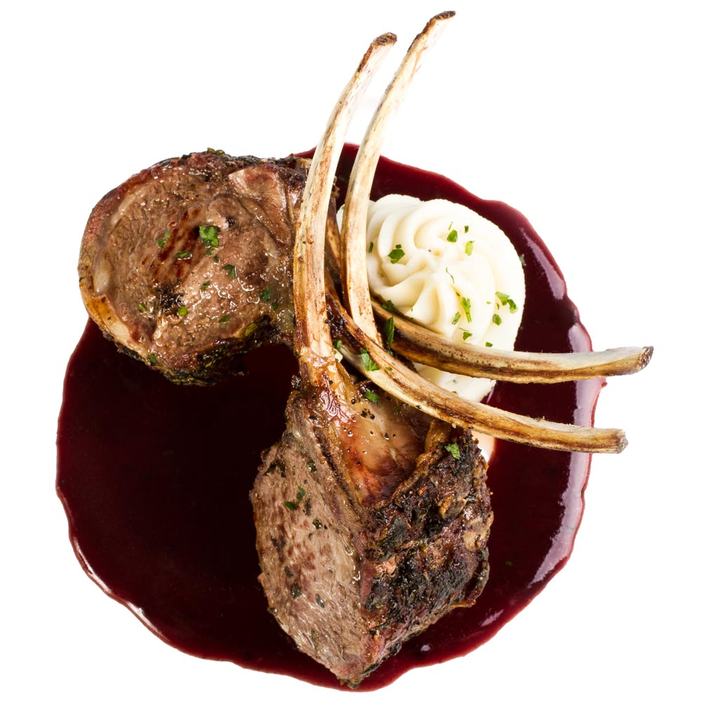 Colorado Rack of Lamb with Port Wine Demi Glace