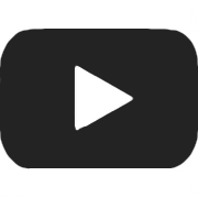 black youtube play button icon