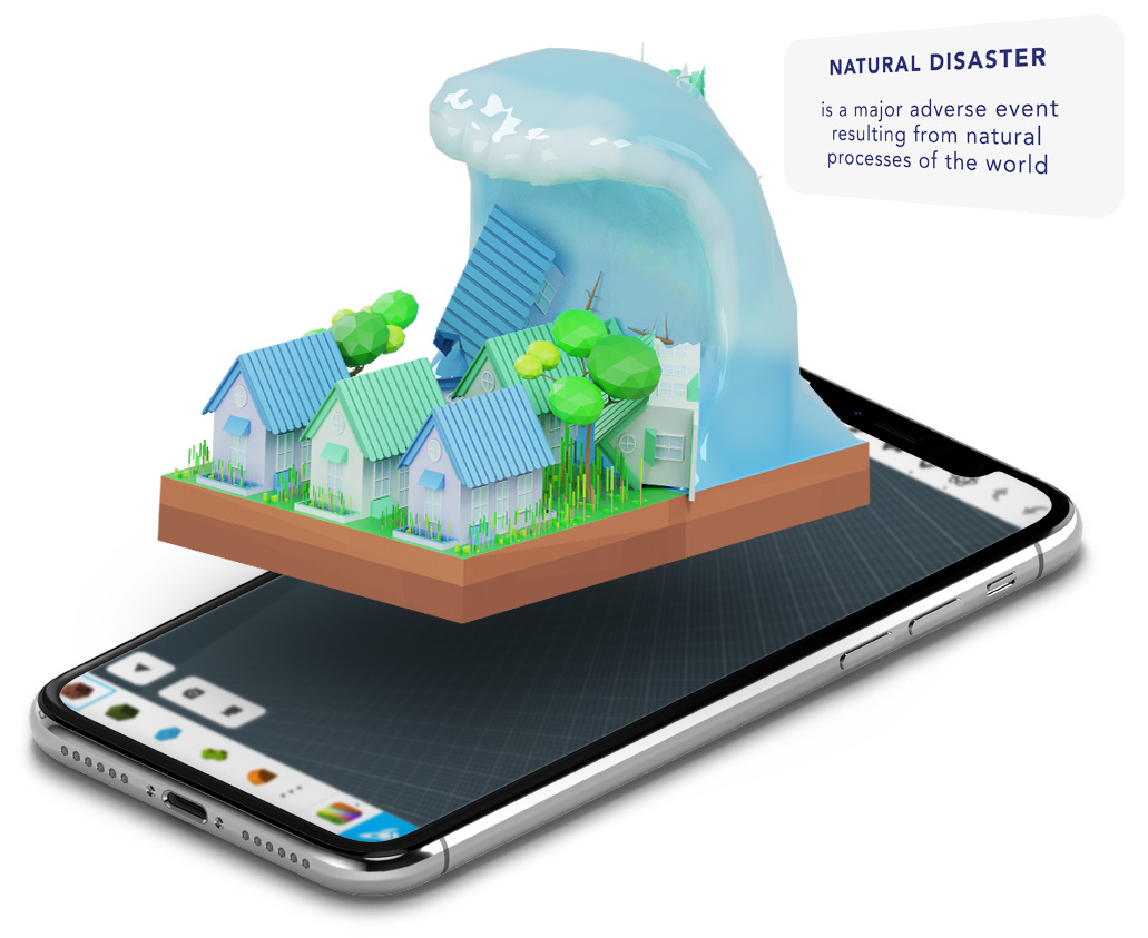 Tsunami - Assemblr | Augmented Reality Platform for Everyone - Assemblr is an ecosystem that empowers you to create, share, and discover augmented reality experiences. We make AR easy to use & access, anytime & anywhere.