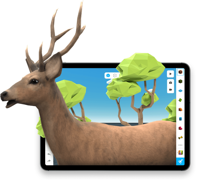 Assemblr App   Create Your Augmented Reality Experiences - Create your own AR experiences easily, only in a few taps. Easy editor, free 1000+ 3D objects for your AR creations. Available on App Store and Play Store.