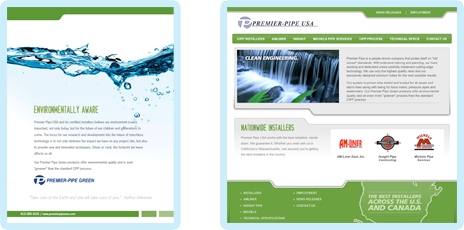 Premier Pipe Brochure and Web Site