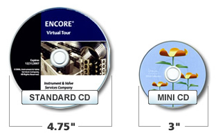 Mini CD size comparison