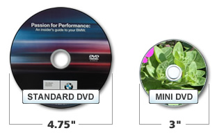 Mini DVD size comparison
