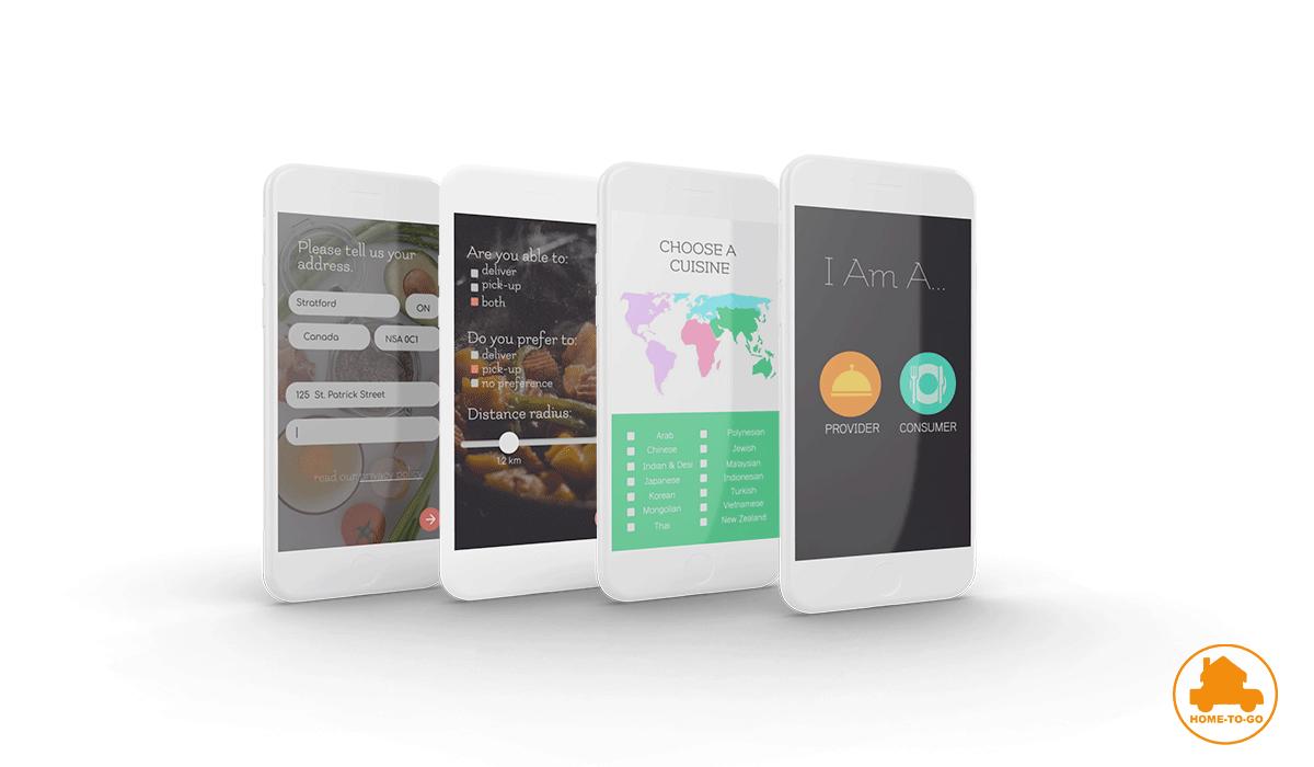 3D mockup of the HomeToGo app