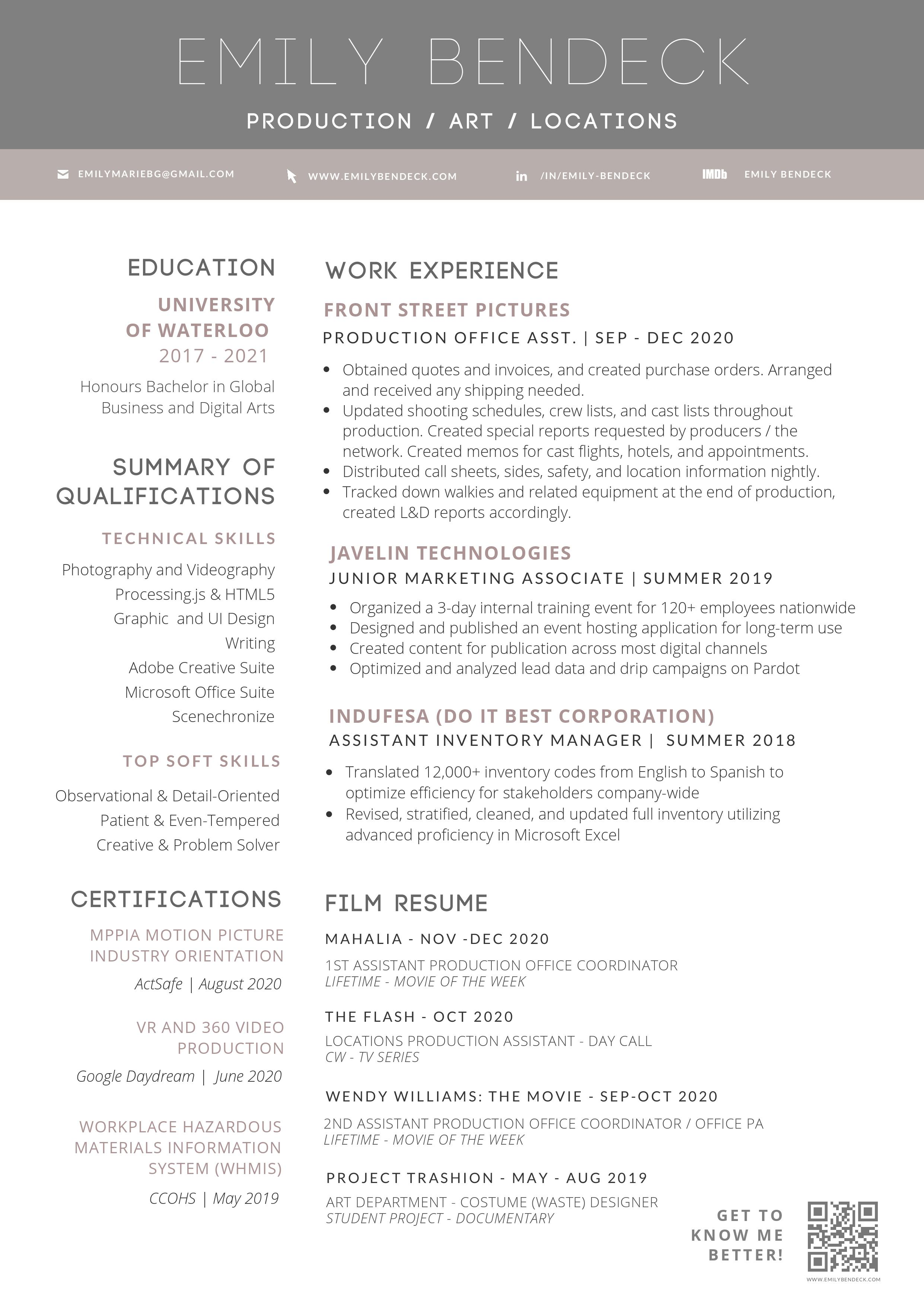 Resume. To get the accesible PDF, download it to the top right.