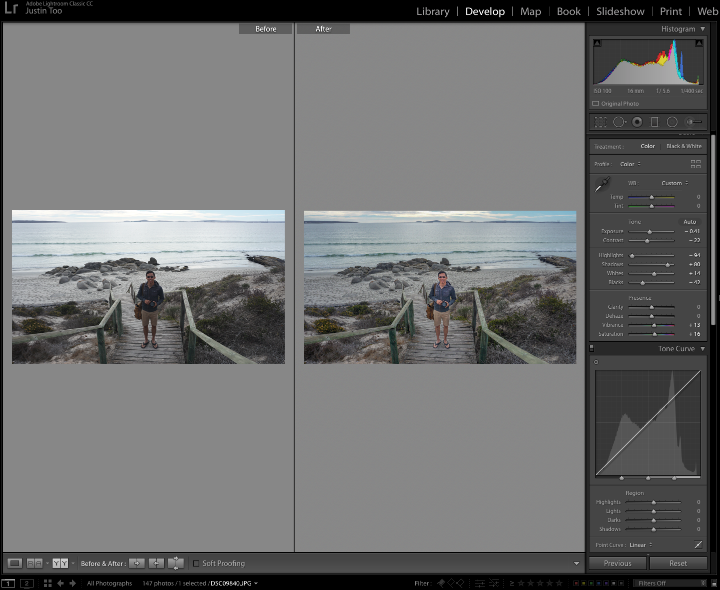 justin too creations, adobe lightroom, lightroom features, lightroom before and after
