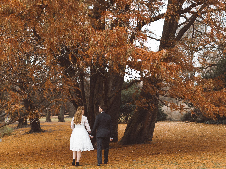bröllopsfotografering i slottsparken