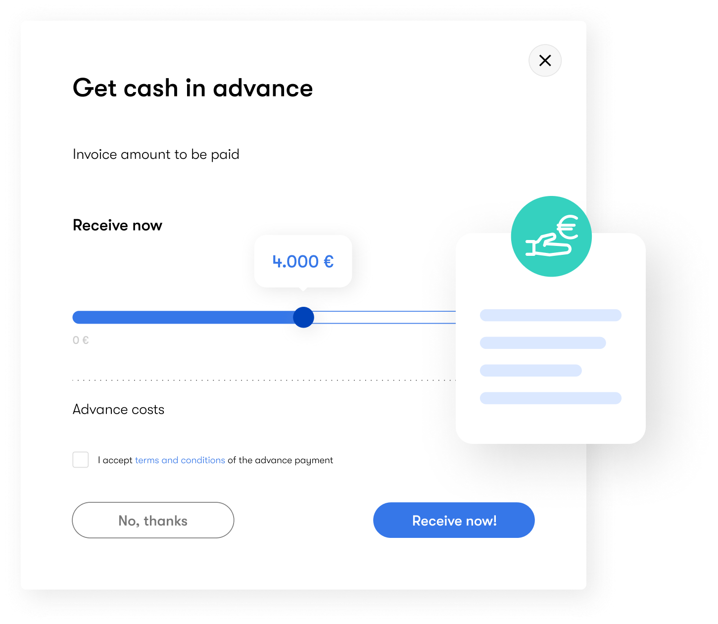 Cash advance for your business