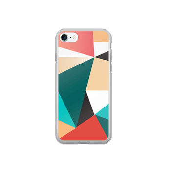 iphone case with colorful geometric pattern