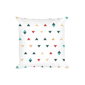 throw pillow with colorful geometric pattern