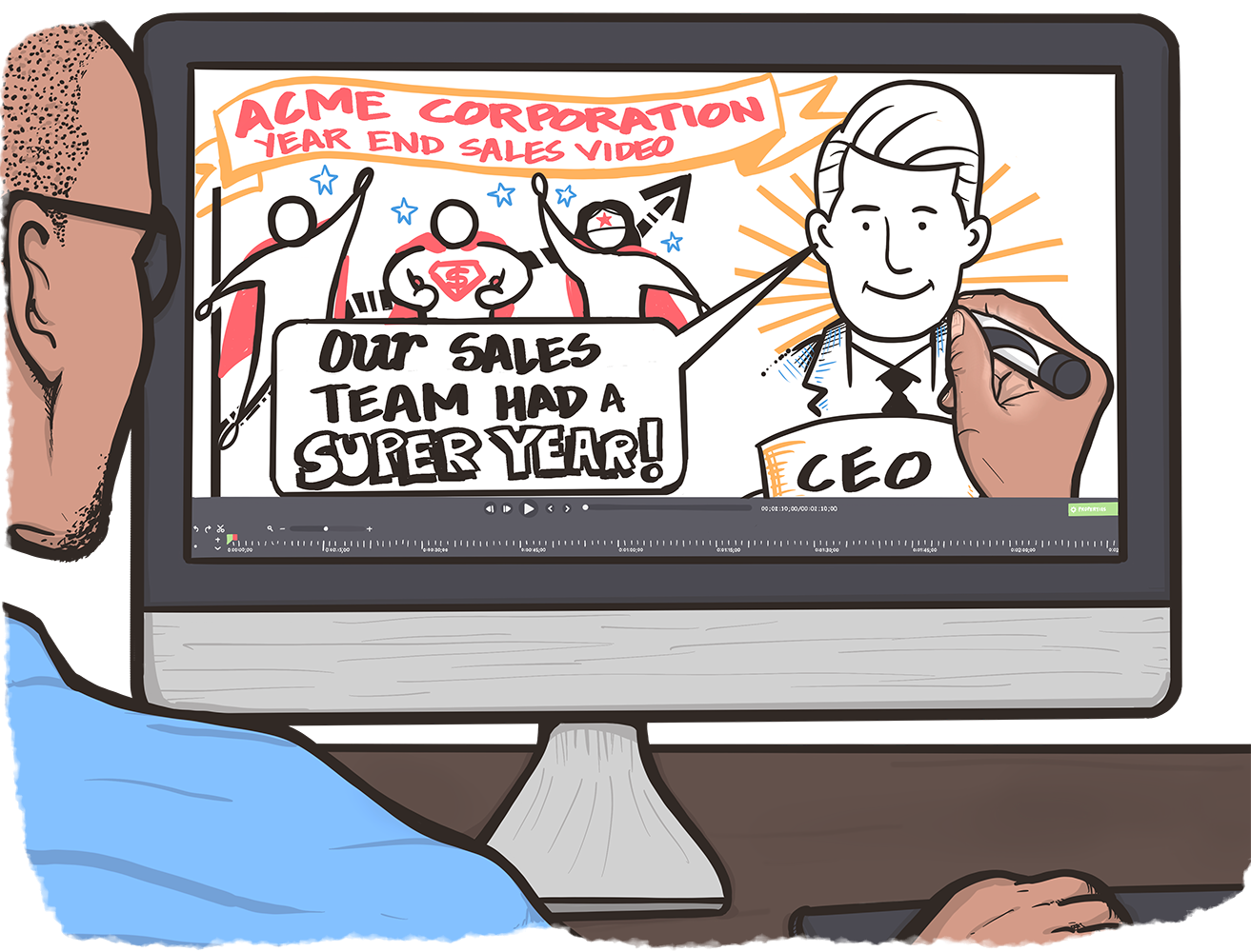 Whiteboard Animation Services are Animated representation of key ideas that convey creativity, innovation and fun in an illustrated video
