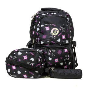 mochila escolar infantil preta