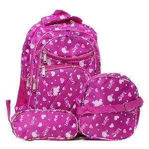 mochila menina rosa