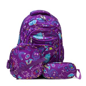 mochila menino escolar robo roxa