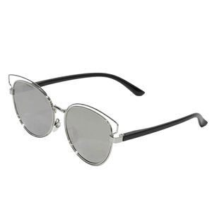 oculos de sol prateado