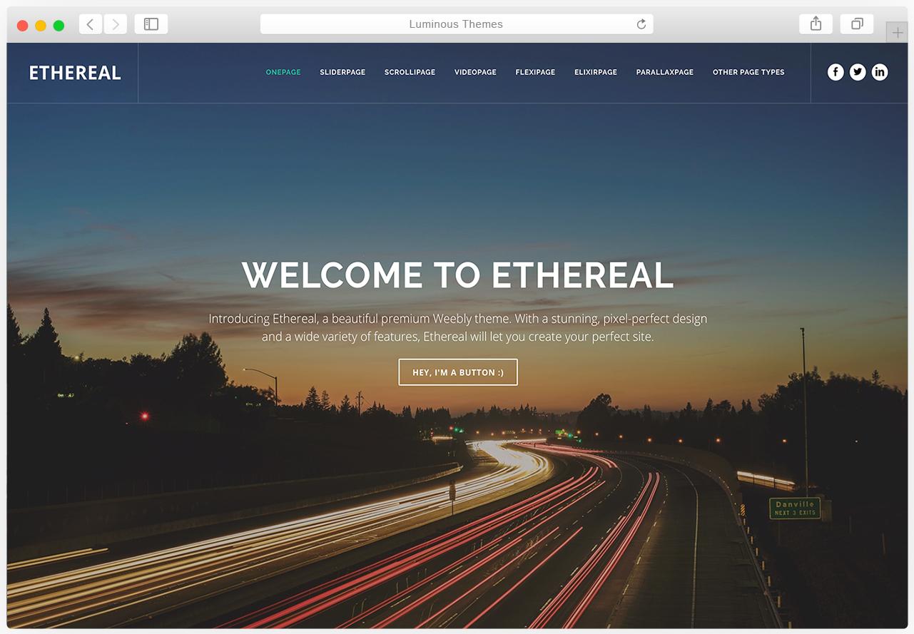 Ethereal theme
