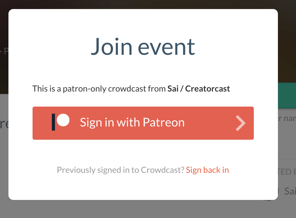 How to do members-only livestreams on Patreon – Sai Hossain