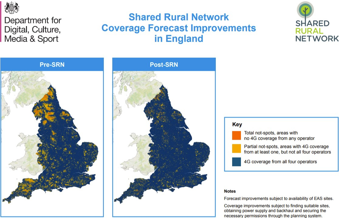 Shared Rural Network Forecast Improvements in England