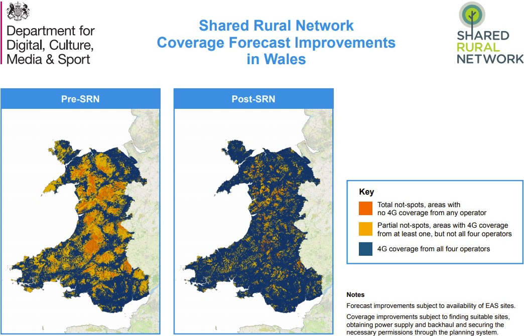 Shared Rural Network Forecast Improvements in Wales
