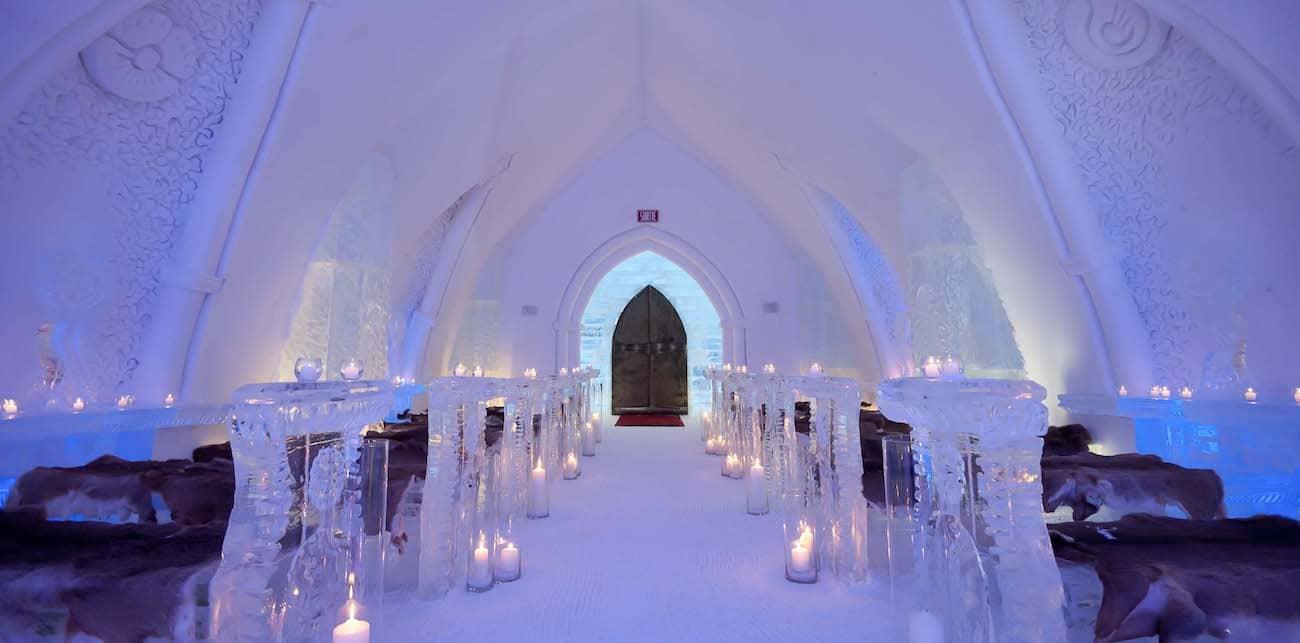 Hotel de glace - Viaggio di nozze Canada