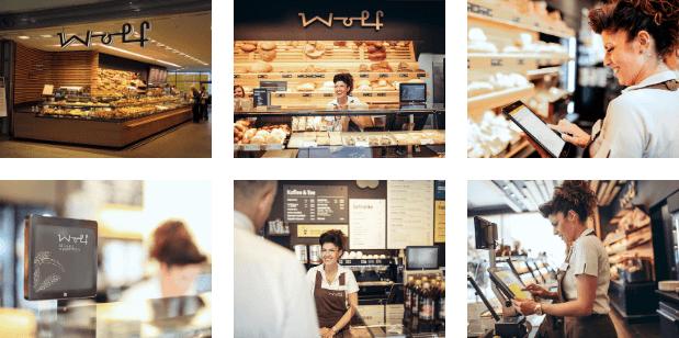 Bäckerei Wolf mit 81 CashAssist Registrierkasse