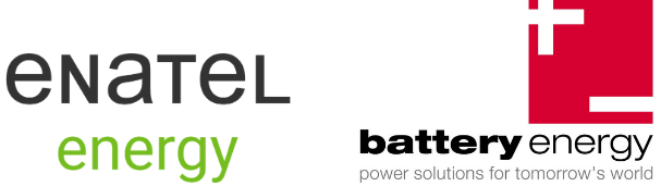 Battery Energy and Enatel logos