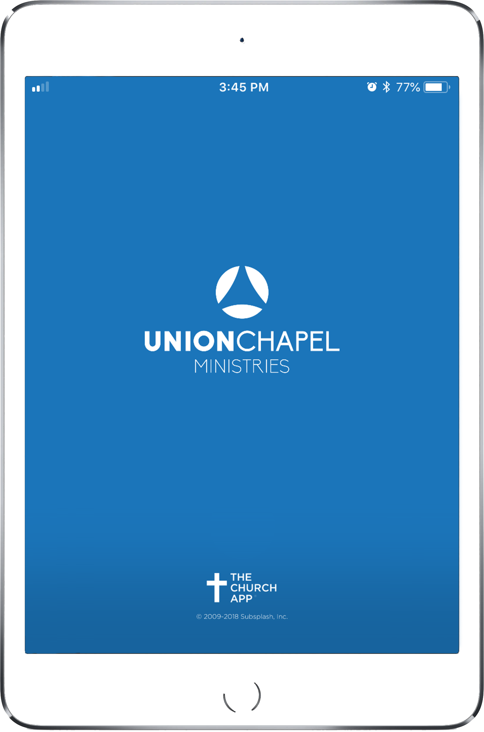 iPad with Union Chapel app