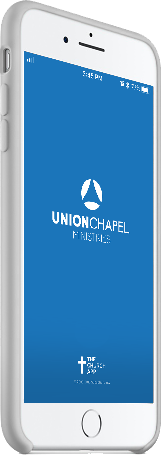 iPhone with Union Chapel app