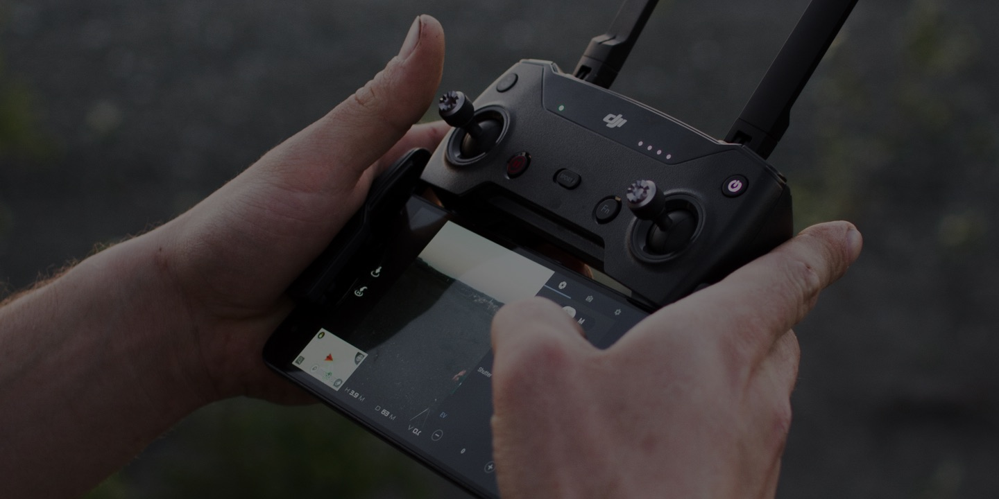 Drone controller in hand