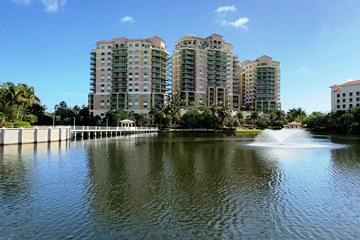 Three buildings of the Landmark in Palm Beach Gardens