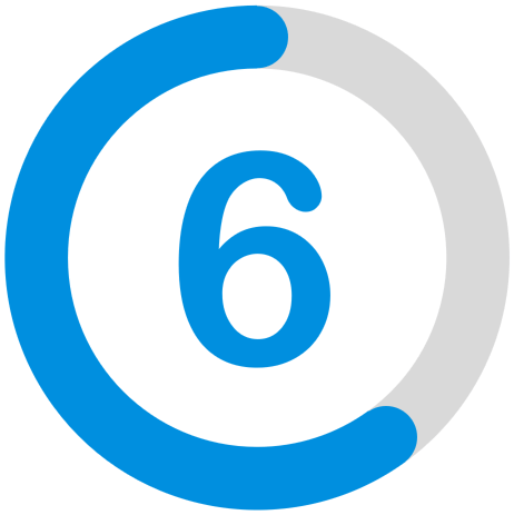 a rating of six