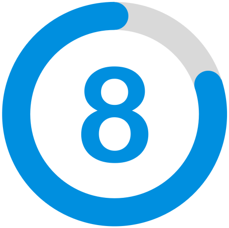 Rating icon 8 out of 10